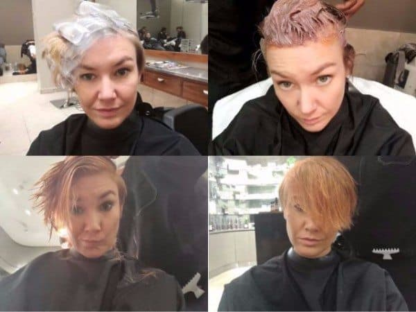 Hair colouring in process