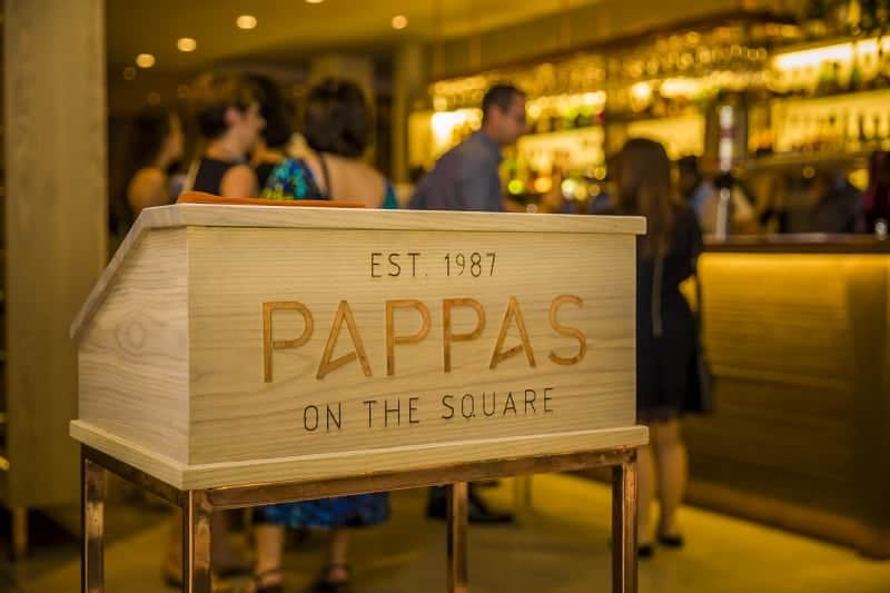 Pappas on the Square entrance