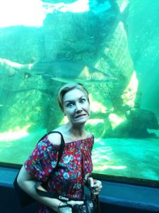 Anne at Cape Town aquarium