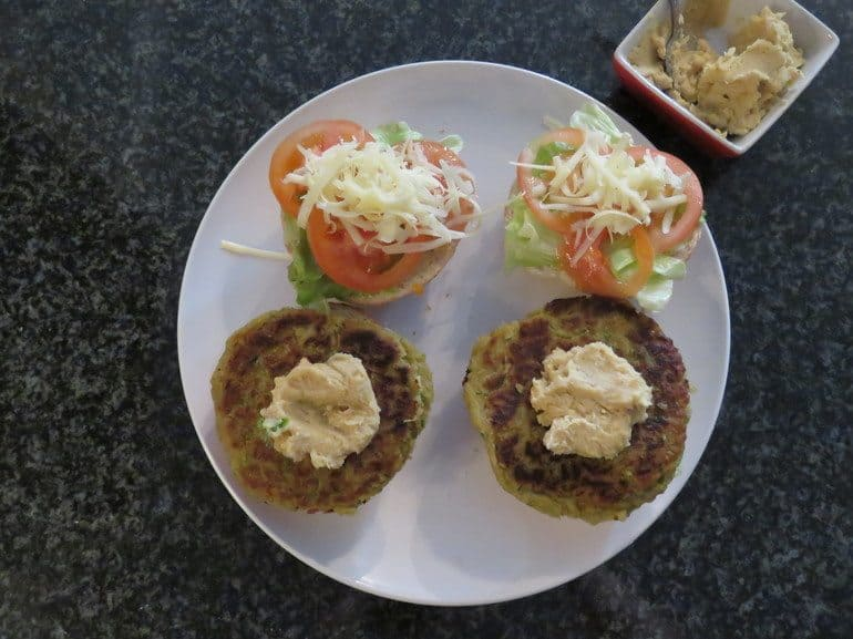 Homemade vegetarian patty