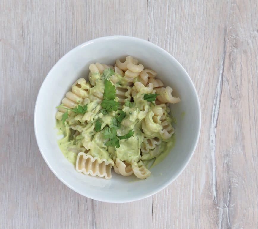 Avocado and lemon pasta