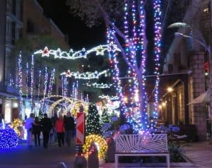 Christmas lights at Melrose Arch
