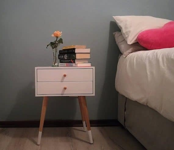 Side table and books
