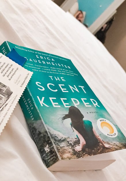 The Scent Keeper Book on bed